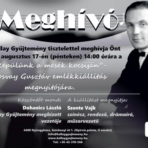 MEGHÍVÓ - Ilosvay Gusztáv emlékkiállítás megnyitójára