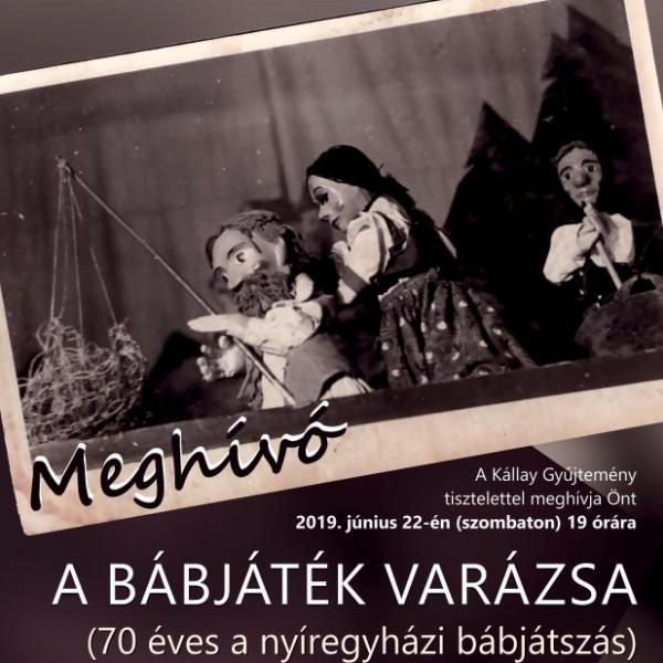 MEGHÍVÓ - A bábjáték varázsa kiállítás megnyitójára