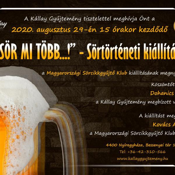 MEGHÍVÓ - Sör mi több...! - sörtörténeti kiállítás